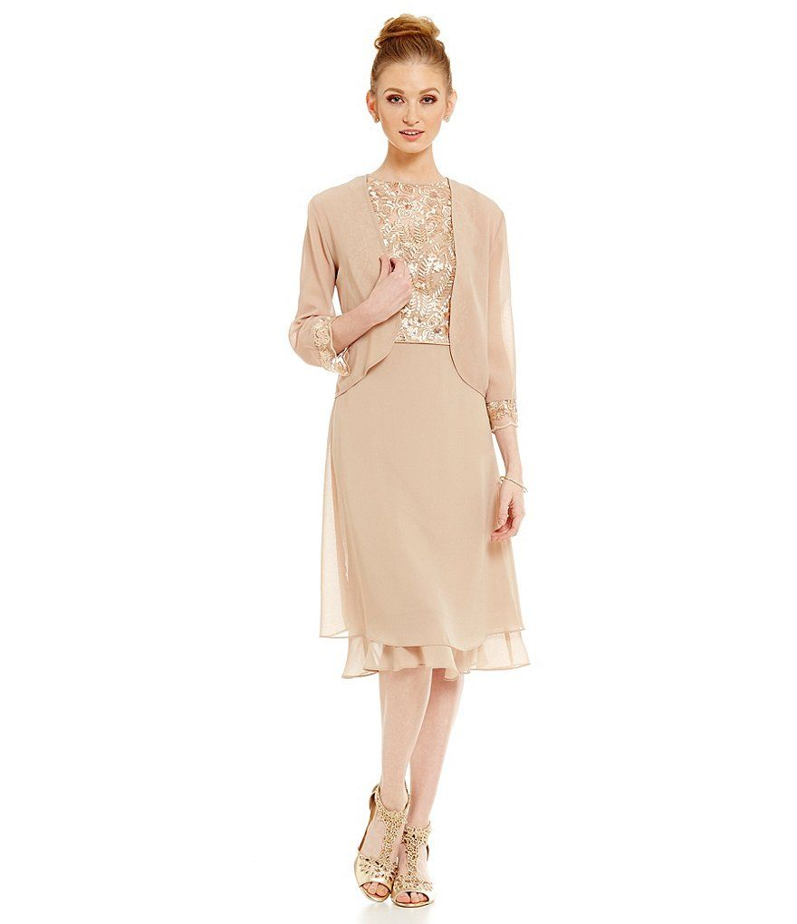 MOB - Le Bos Embroidered 2-Piece Jacket Dress $120 | A&J Wedding ...
