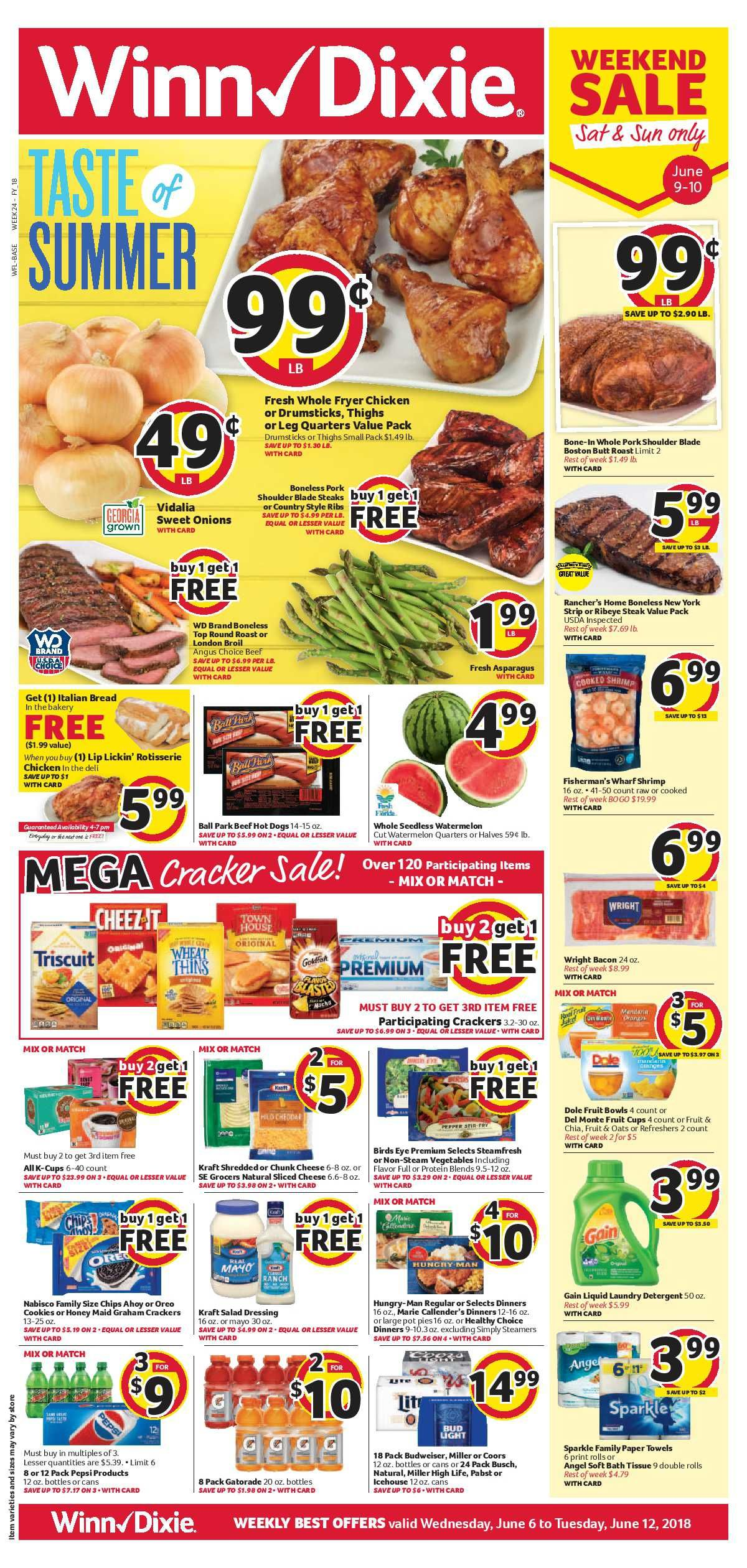 Winn-Dixie Weekly ad Flyer July 17 - 23, 2019 | Weekly Ad