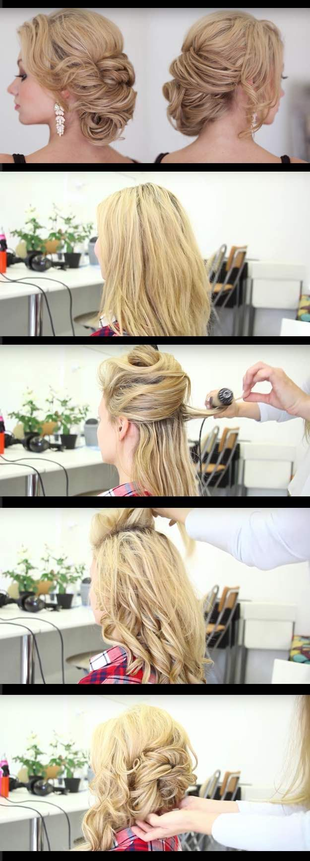 Easy step by step hairstyles for school quick and easy updo