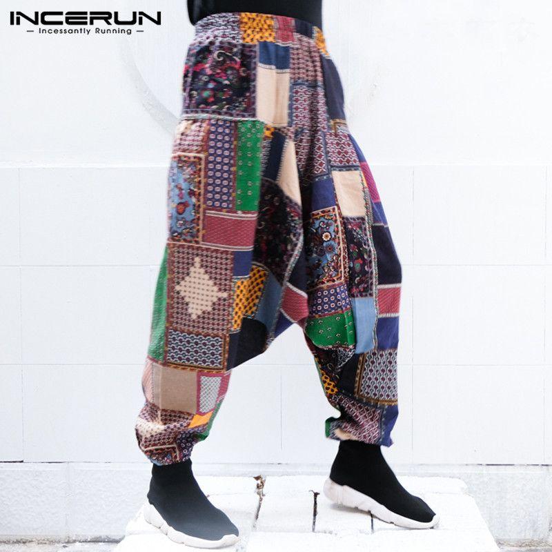 6cc64ea6747 Streetwear Men Harem Pants Women Baggy Trousers 100%Cotton Cross-pants Wide  Legs 5XL