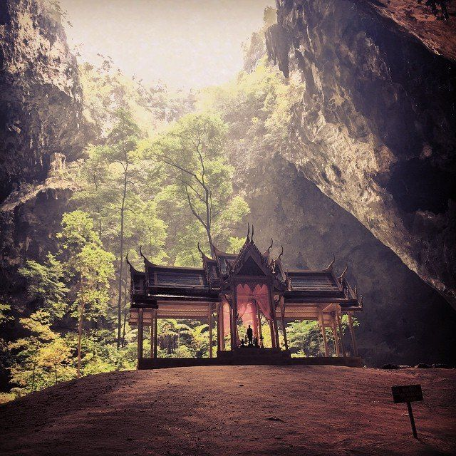 buddhist temple inside a cave