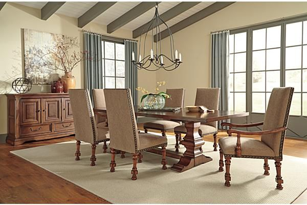 The Gaylon Dining Room Chair From Ashley Furniture HomeStore AFHS Rustic Beauty Of Collection Brings Together Rich