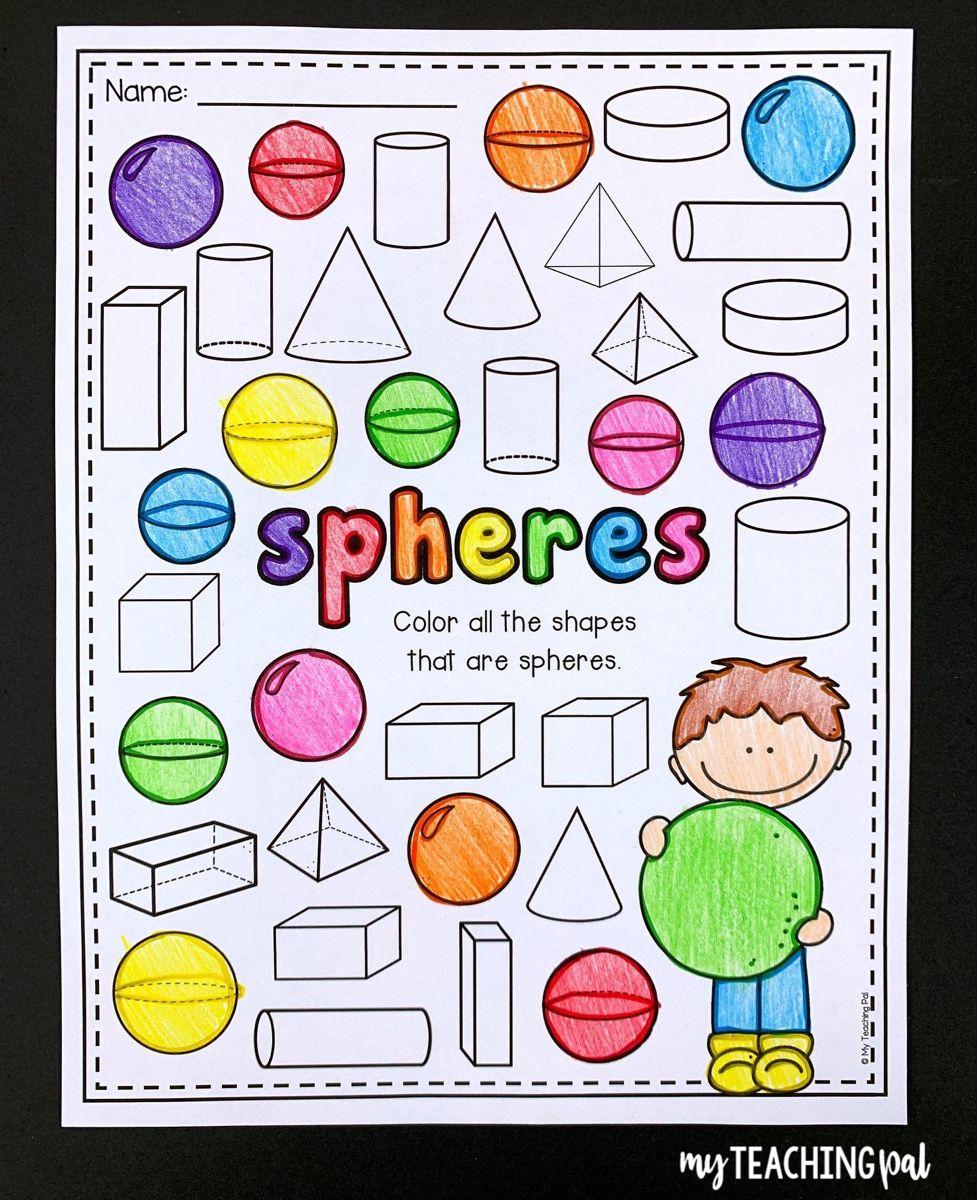 3d Shape Worksheets 3d Shapes Worksheets 2d And 3d Shapes Shapes Worksheets