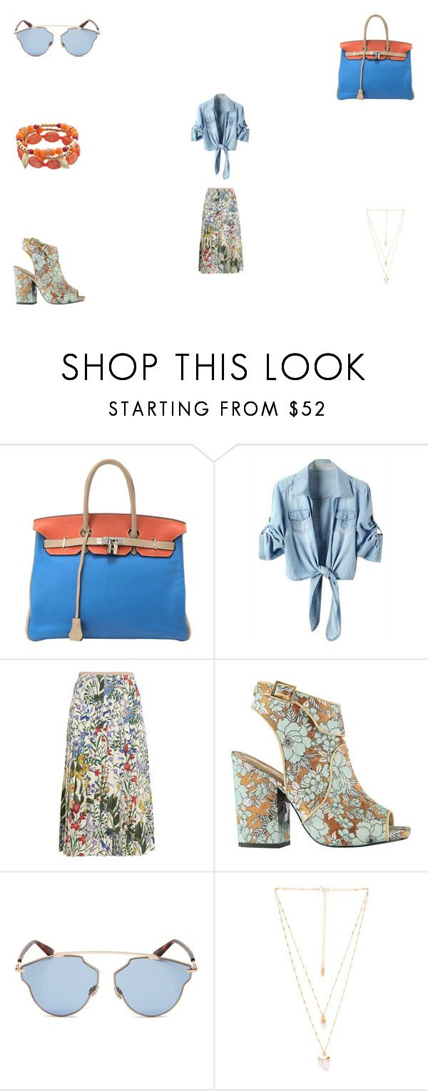 """Saturday Funday"" by panicsam ❤ liked on Polyvore featuring Hermès, Gucci, Christian Dior and Natalie B"