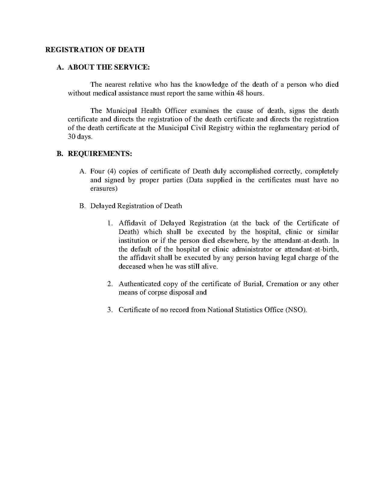 Templates Affidavit Of Death Templates Hunter Affidavit Of Death