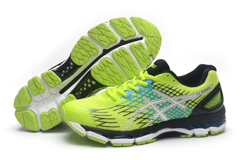 Asics Gel Nimbus 17 Mens Running Shoes Black Volt White