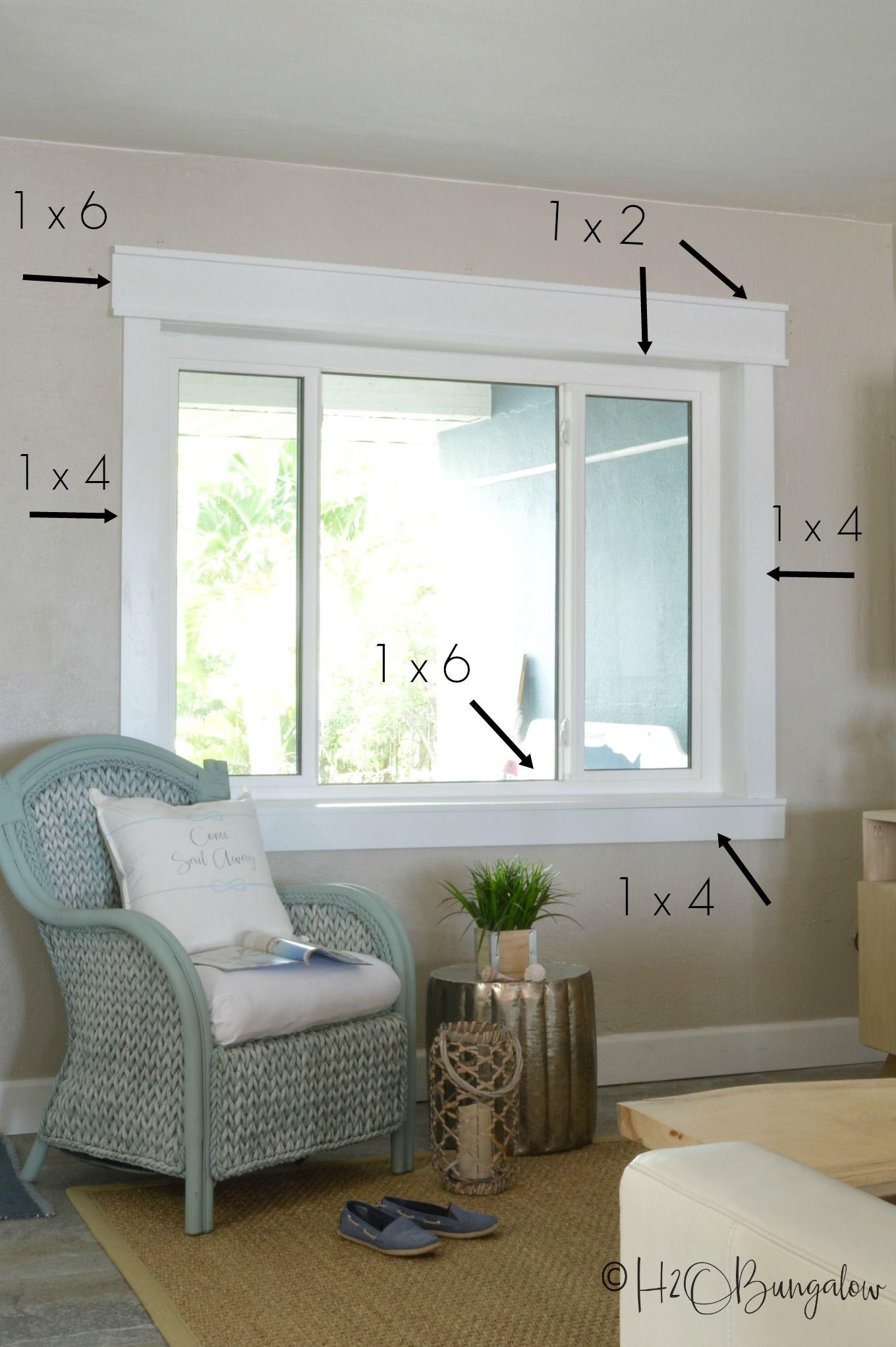 Simple Diy Craftsman Style Window Trim Tutorial H2obungalow Craftsman Window Trim Interior Window Trim House Trim