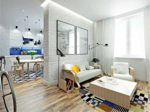 Living Small With Style Apartment Under 500 Sq Ft Living Room