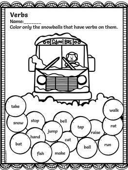 Winter Activities For First Grade- Math and Literacy