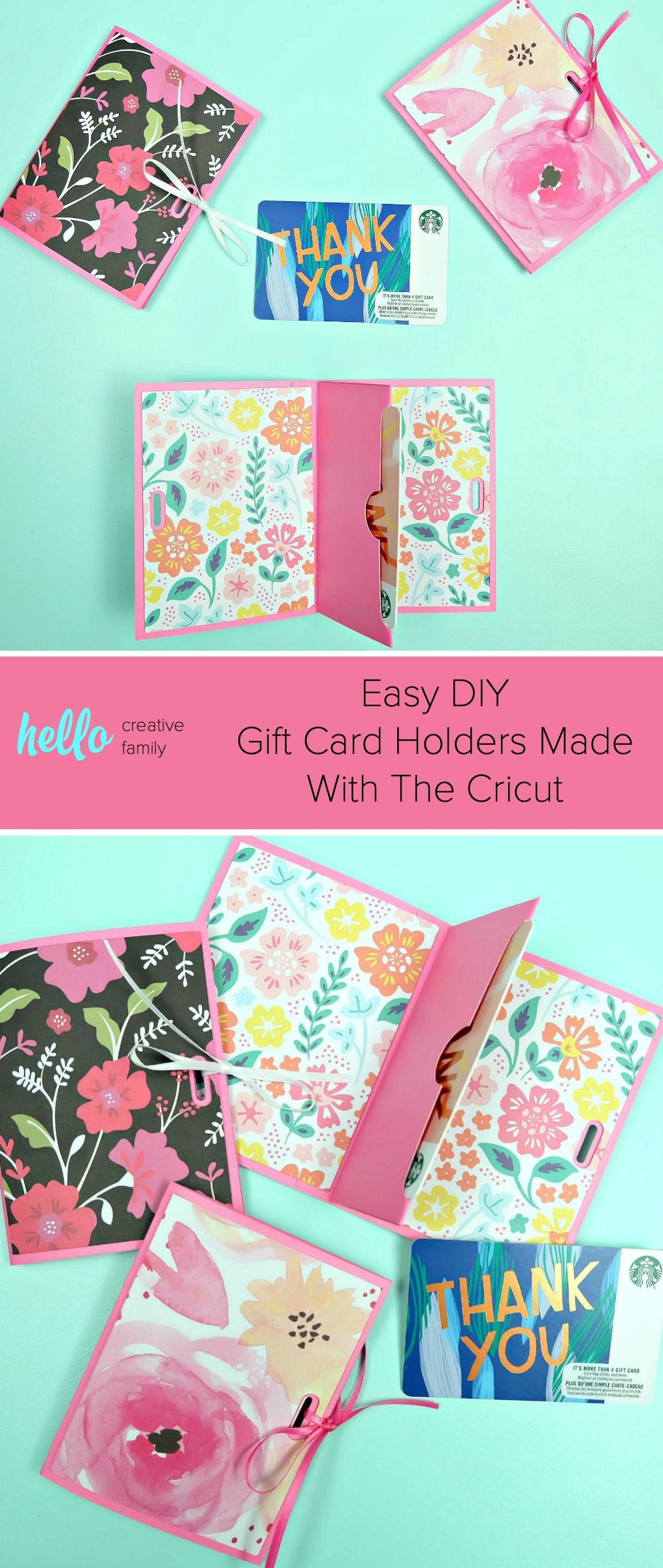 Easy Diy Gift Card Holders Made With The Cricut Diy Gift Card Birthday Gift Cards Easy Handmade Gifts