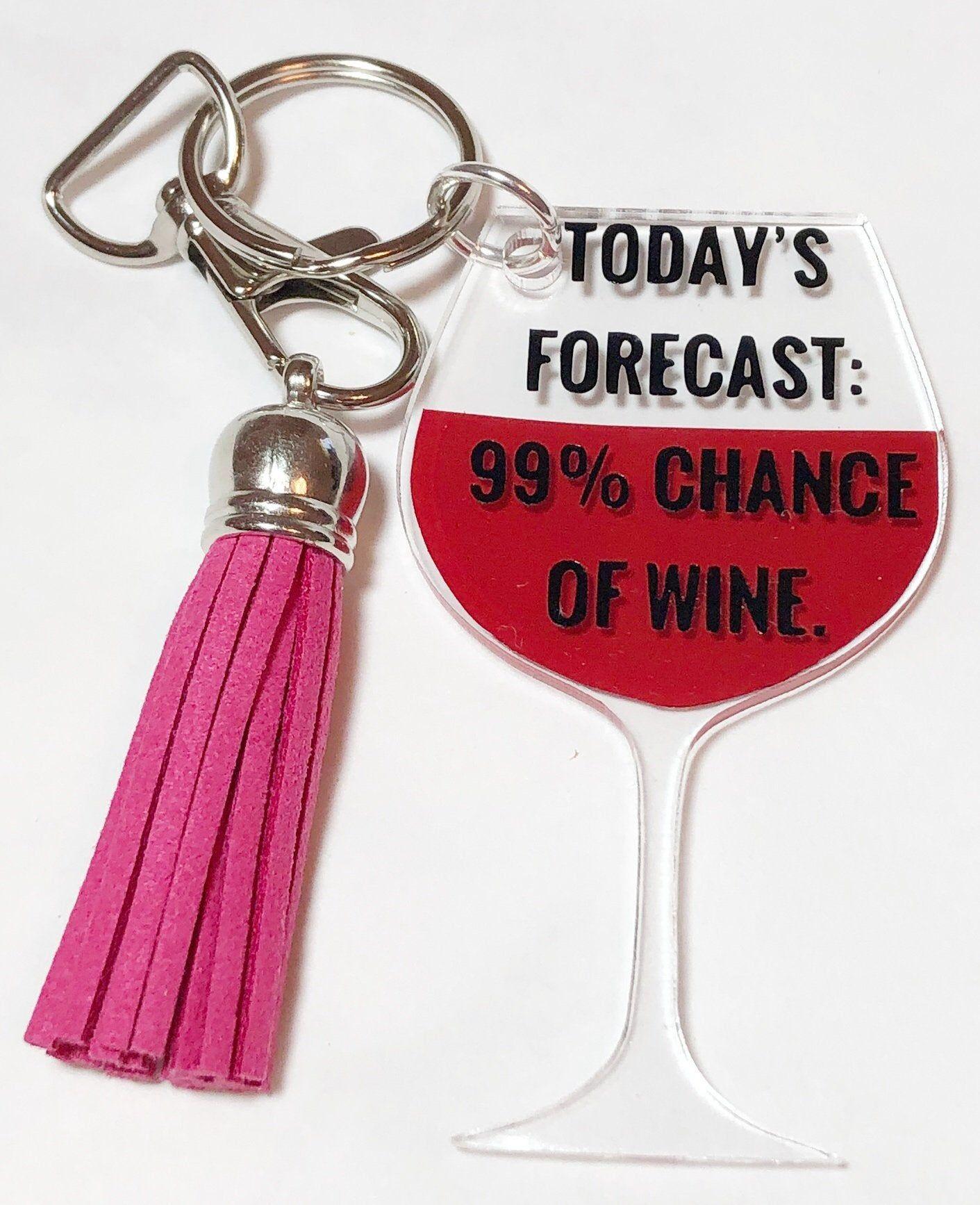 Wine Glass Shaped Keychain Keychain For Wine Lover Wine Lovers Keychain Wine Glass
