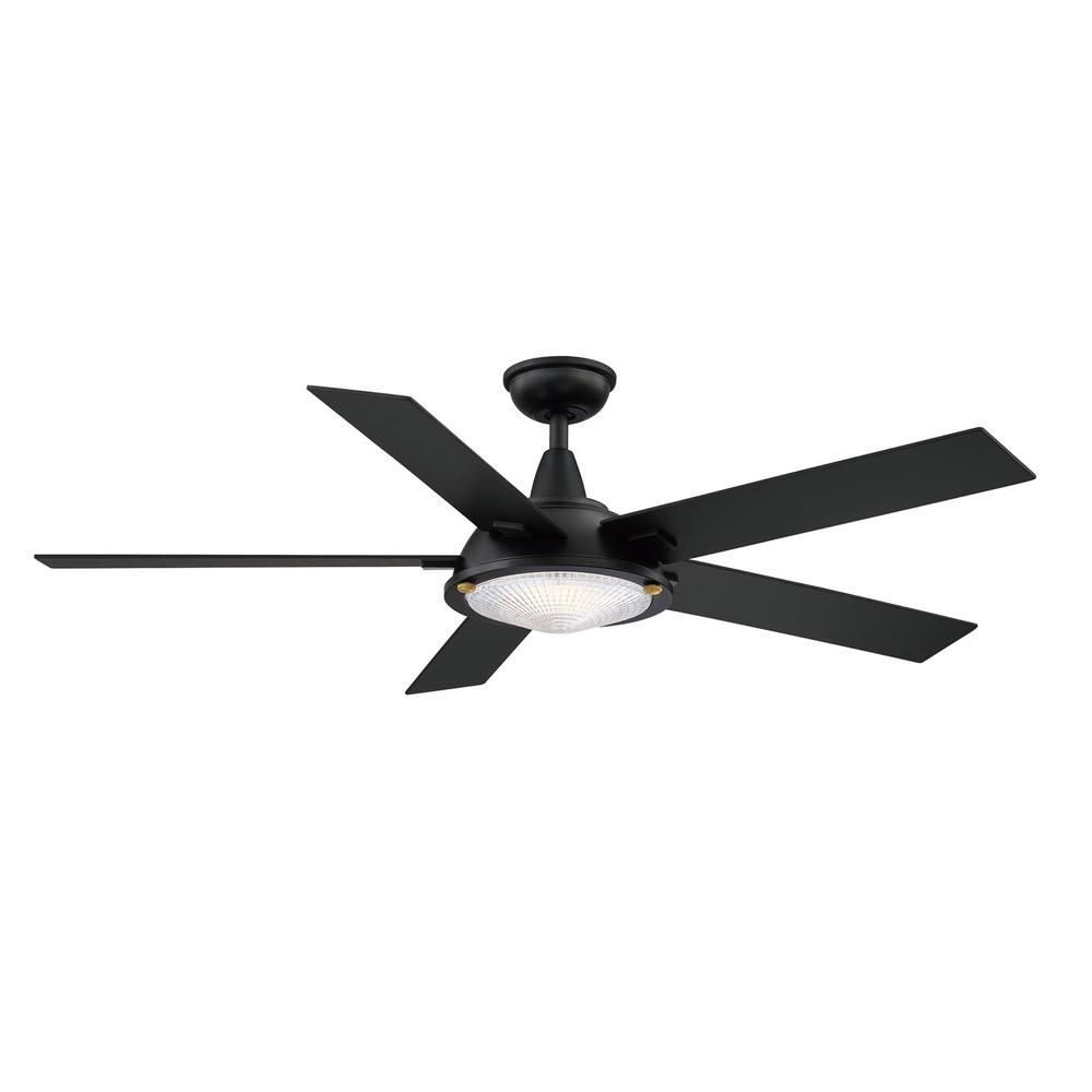 Home Decorators Collection Merienda 56 In Led Matte Black Ceiling Fan With Light Am686 Mbk The Home Depot In 2020 Black Ceiling Fan Ceiling Fan With Light Black Ceiling