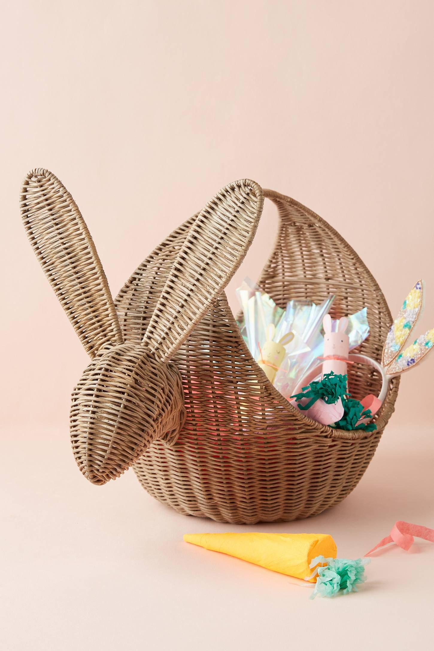 Rabbit Wicker Basket Wicker Basket Decor Wicker Easter Basket