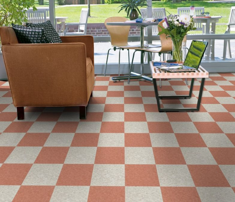 Armstrong S 51879 Etruscan Red And 51836 Shelter White 12x12 Inch Tiles Vinyl Tile Vct Flooring Flooring