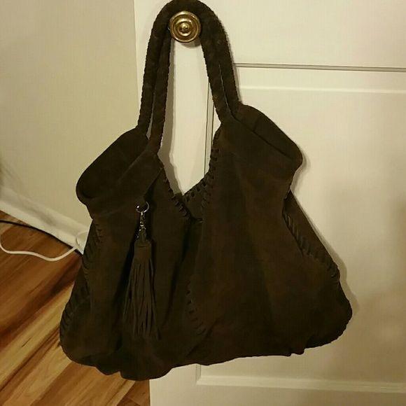 Brown suede bag Large brown suede hobo  very clean Bags Hobos