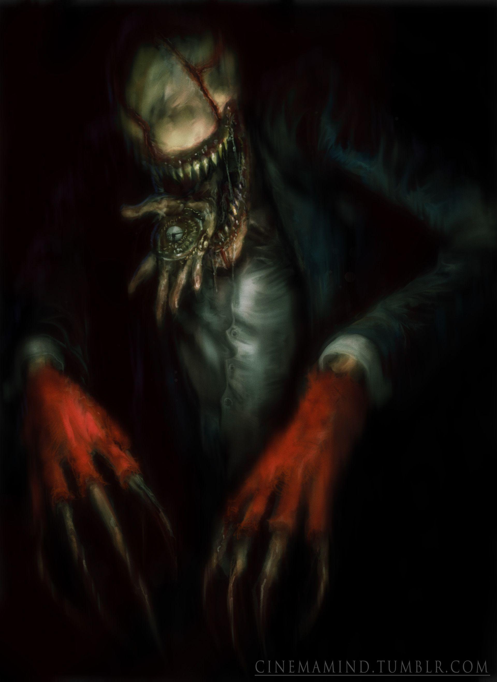 Artstation The Look See David Romero Scary Art Horror Movie