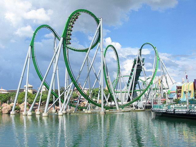 The Incredible Hulk Ride Universal Islands Of Adventure Islands Of Adventure Best Roller Coasters