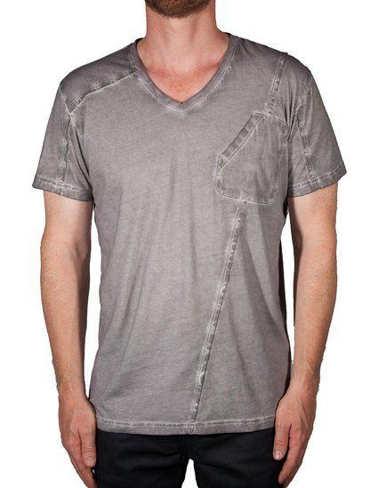 Applied Theory Men's Dillon Modern T Shirt. Hand Sprayed