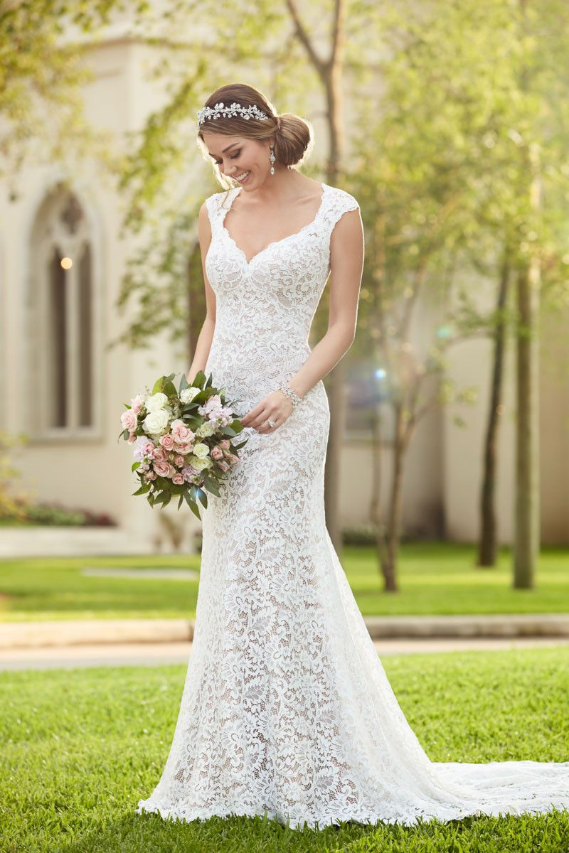 Swoon style this wedding gown from stella york is made from