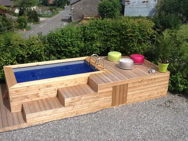 d couvrez les mini piscines en bois vercors piscine maisons pinterest mini piscine. Black Bedroom Furniture Sets. Home Design Ideas