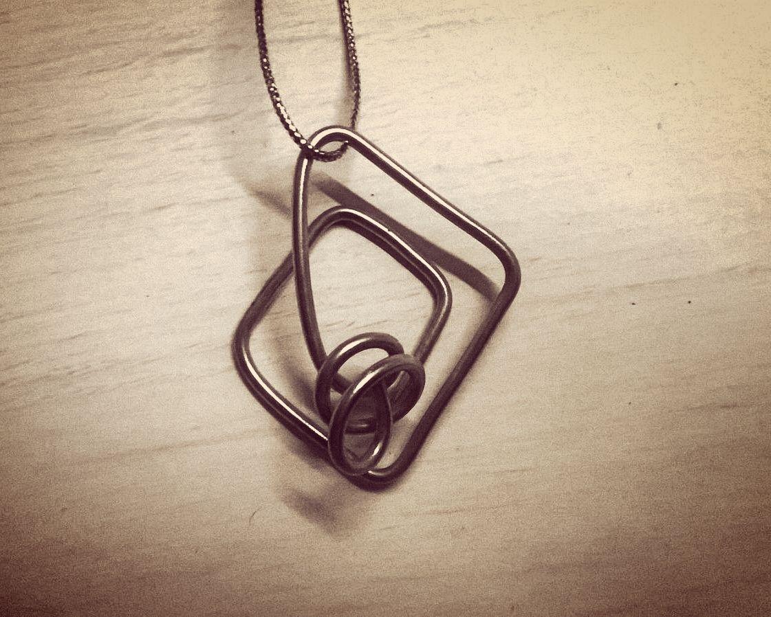 Collana fil di ferro - Iron Wire Necklace - Handmade DIY