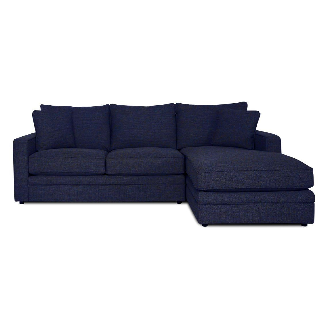 Andersen 2 5 Seat Fabric Modular W Right Chaise Size W 262cm X D 175cm X H 100cm In Navy Blue Fabric Foam Fibre Freedom Modular Sofa Modular Couch Sofa