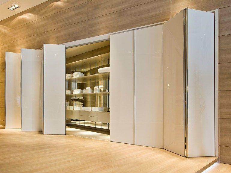 Mampara divisoria puerta de madera flecto by movi for Puertas tipo fuelle