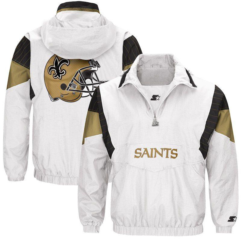 54069f2d9 New Orleans Saints Starter Thursday Night Lights Breakaway Jacket – White