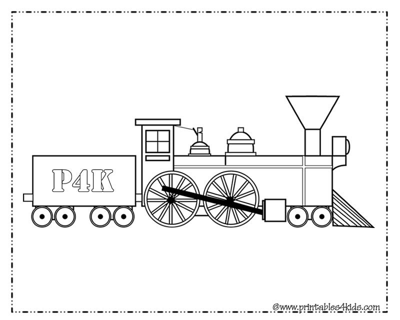 Train Coloring Page for boys : Printables for Kids