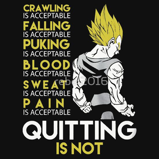 Dragon Ball Z Vegeta Workout Quotes iphone case