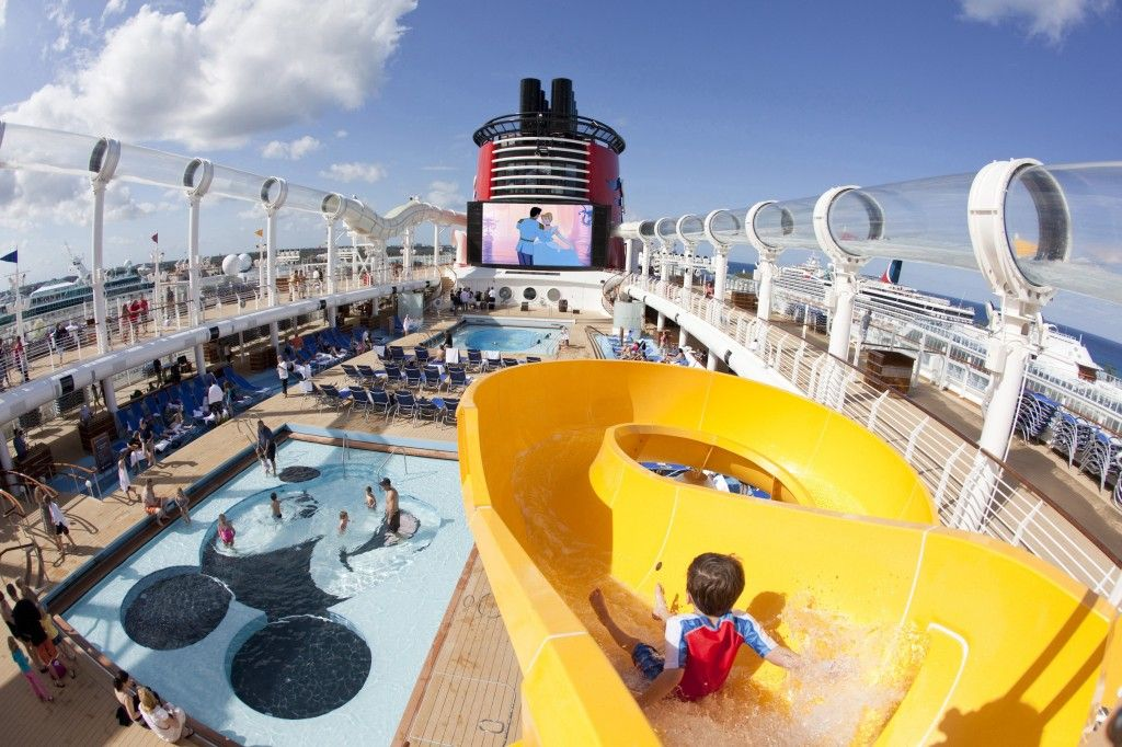 On board a Disney Cruise ship.