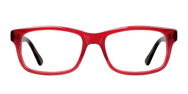 These red eyeglasses are vividly cheerful. The classic wayfarer ...