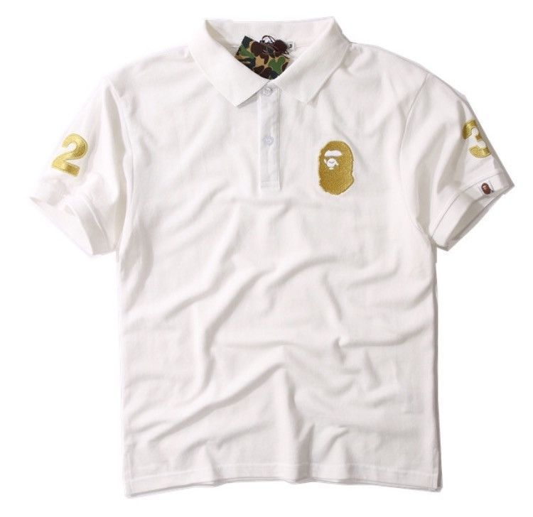 412ae6e9dce1 BAPE Gold Embroidered  32 Polo Shirt