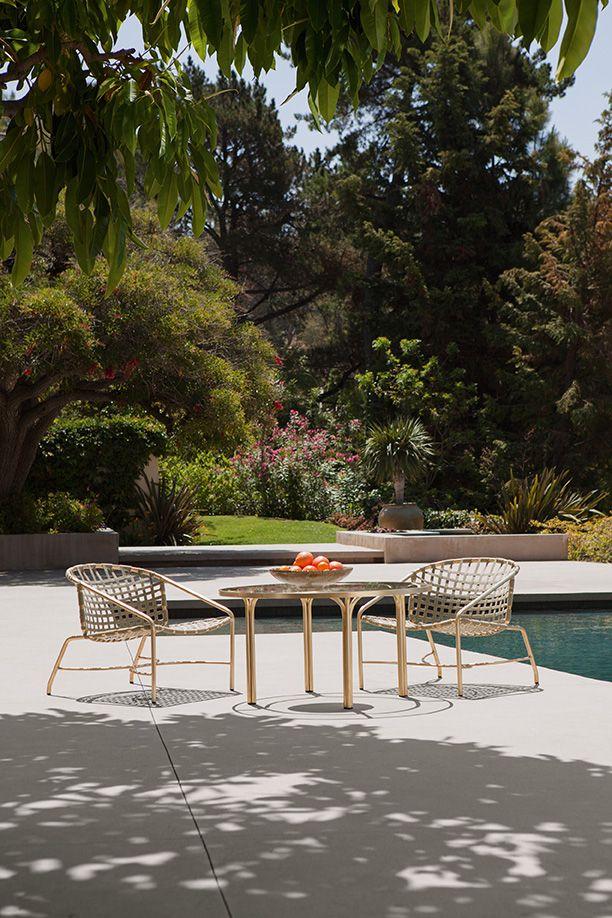 Outdoor Furniture - Kantan Brass Suncloth Dining