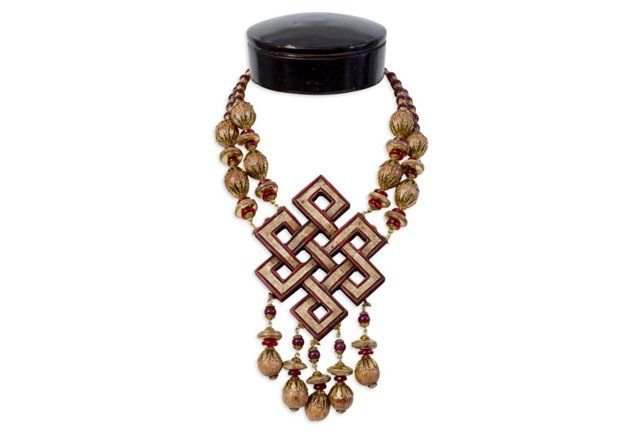 Vrba Medallion Necklace & Earrings - from Iris Apfel's personal collection