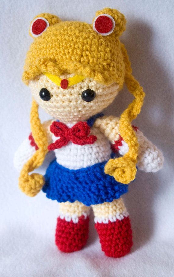 Amigurumi Jewelry Patterns : Sailor Moon amigurumi doll by JennyDork on Etsy Knit Wit ...