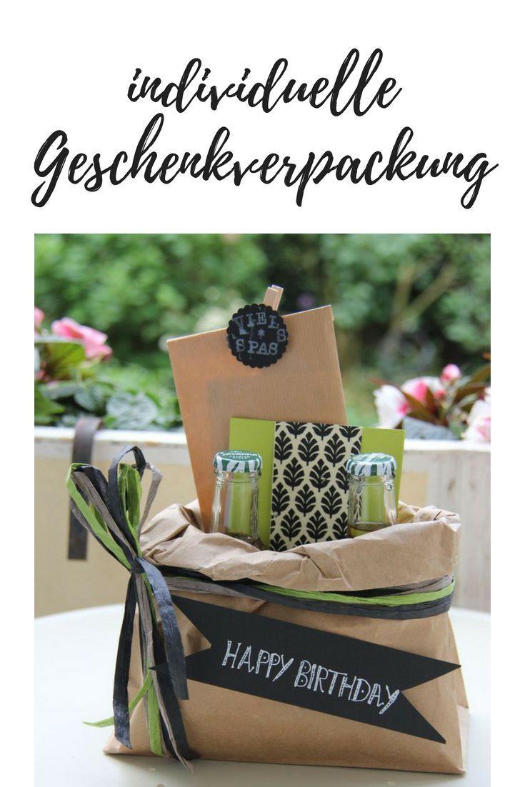 Kreative Geschenkverpackung basteln - ein Geburtstagskoffer geht auf die Reise - Tischlein deck dich