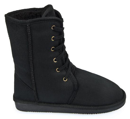 Sznurowane Mukluki Eskimoski Sniegowce Boots Combat Boots Wedge Sneaker