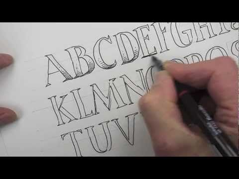 How to draw an alphabet of capital letters diy: lettering