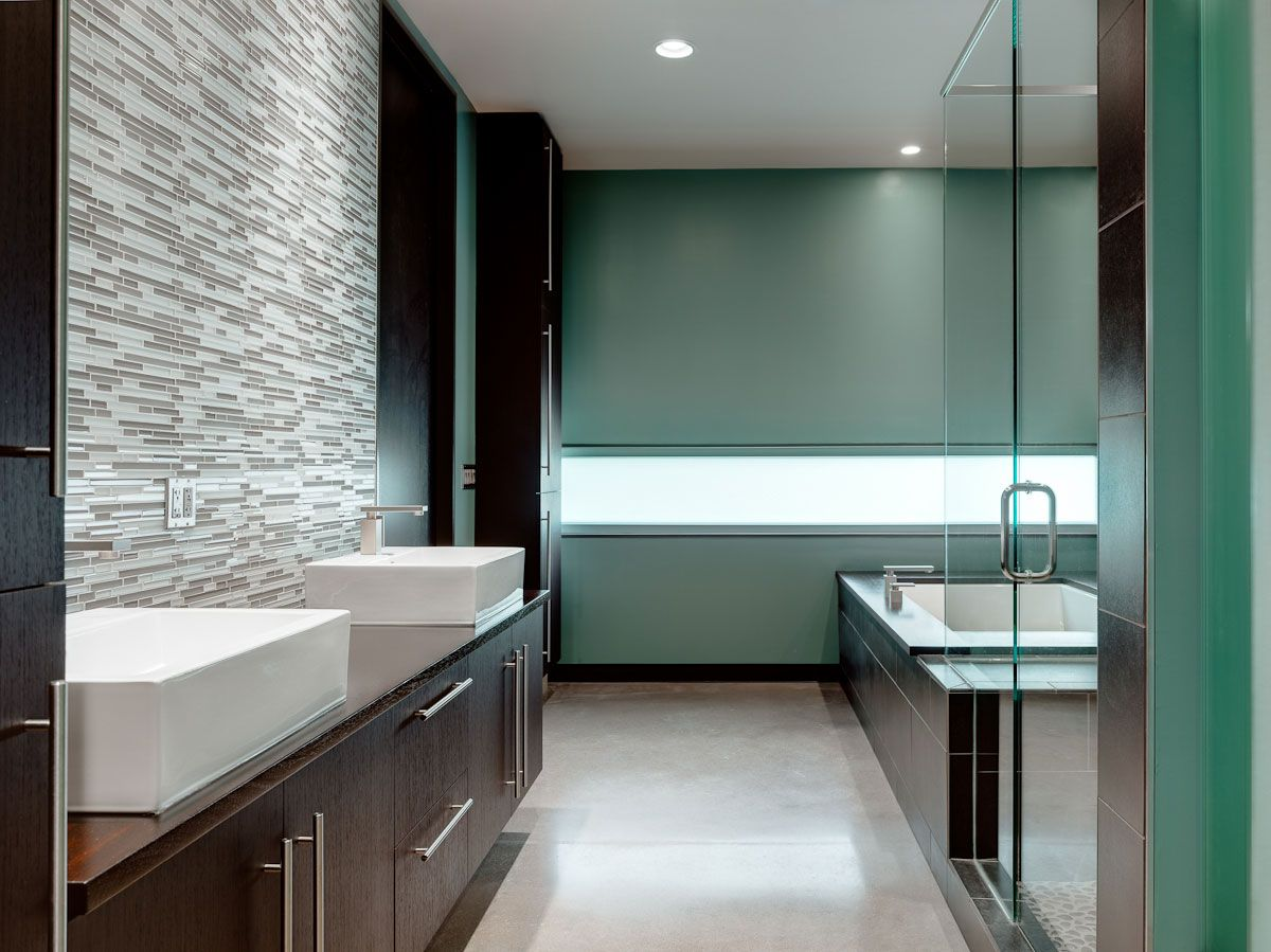 The Zinc House By New Homes Land Contemporary Master Bathroom