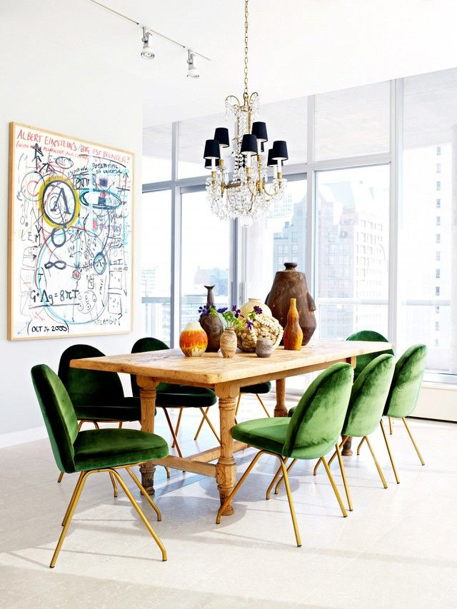 The Chicest Dining Rooms You\'ve Ever Seen | Luxus-möbel, Samt und ...