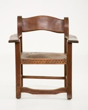 Marilyn S Dining Room Wood And Leather Handmade Mexican Chair Upholstered With Br Tacks