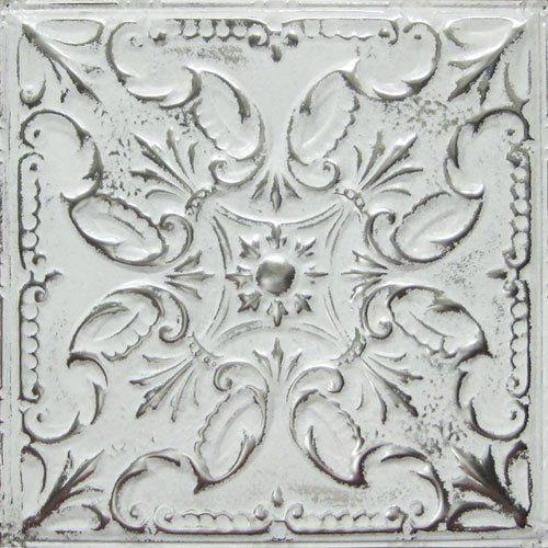 american tin ceilings pattern in artisan silver washed white - American Tin Ceilings