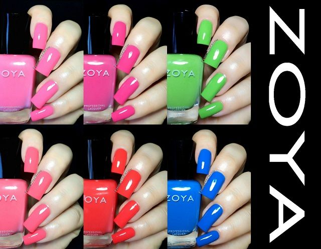 Zoya Summer 2014 Tickled collection swatches