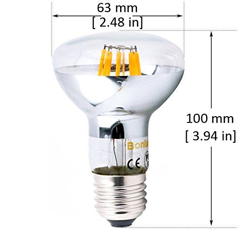 bonlux 8w br20 led filament bulb medium screw base e26 led r20 flood light bulb warm
