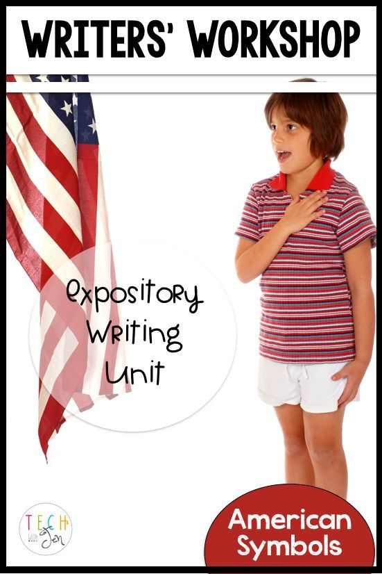 American symbols expository writing unit about civics with research, projects, and unit plans. For kindergarten through 2nd grade. $