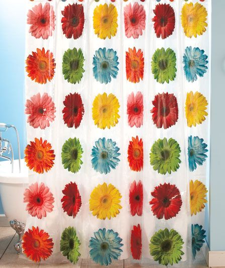 Gerber Daisy Shower Curtain | For the Home | Pinterest | Decorating ...