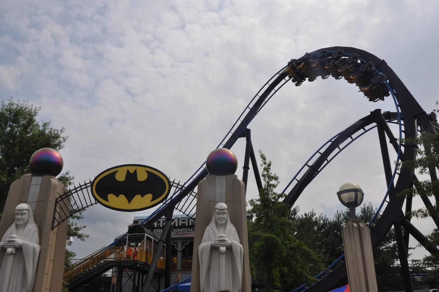 Batman The Dark Knight Off Ride In Hd At Six Flags New England