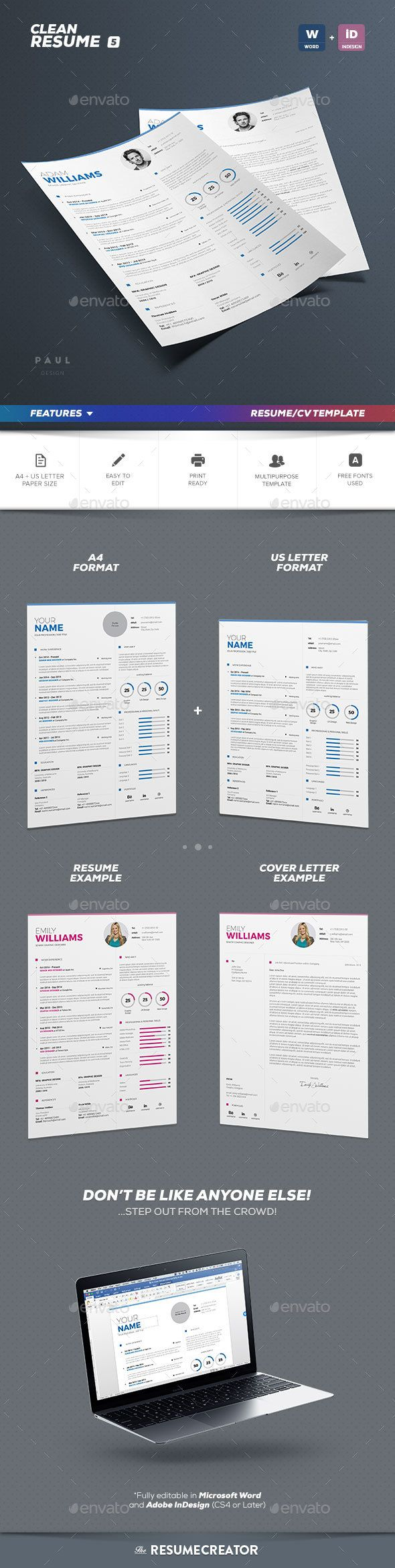 15+ Infographic Resume Ideas for Non-Creative Jobs | Free ... |Cool Infographic Resume Template