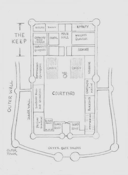 A Larger Castle Floor Plan Castle Floor Plan Medieval Castle Layout Castle Project